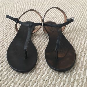 CORSO COMO Black Leather Sandals